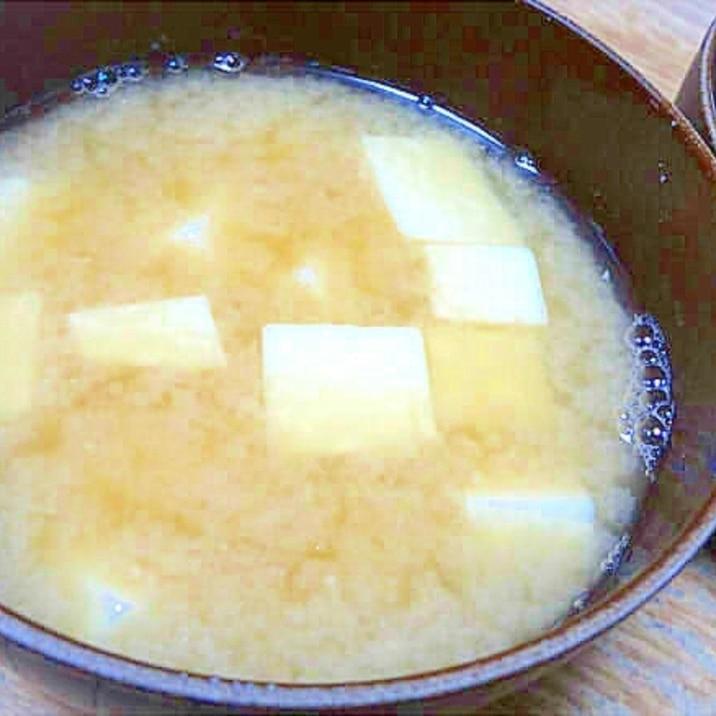 煮干し出汁のお味噌汁