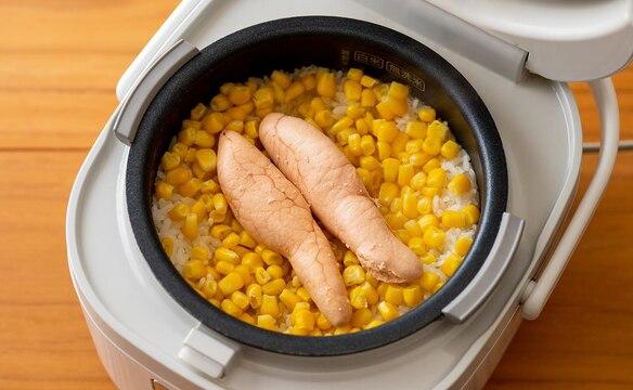 炊飯器ひとつで★丸ごとたらことコーンのバターごはん
