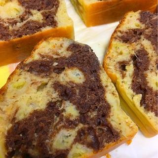 ノンオイル♡マーブルパウンドケーキ
