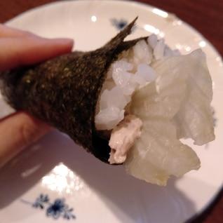 ツナマヨの手巻き寿司