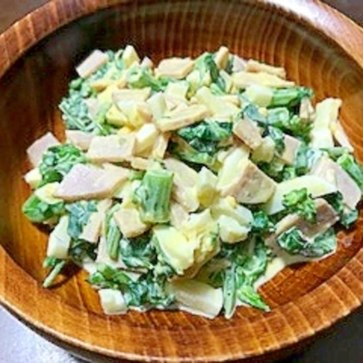 花クレソンとゆで卵のサラダ