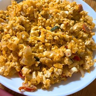 簡単ダイエットレシピ!豆腐キムチ炒飯