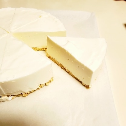 ヨーグルトが美味しいケーキになりました♪♪あっという間に売り切れました。また作ろうと思います♪