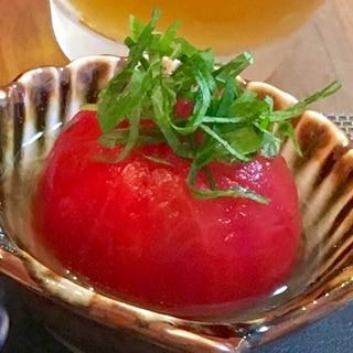 丸ごと食べたい!簡単トマトのお浸し
