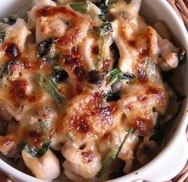 鶏肉とほうれん草のマヨ味噌焼き