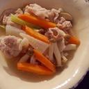 豚こま肉のしっとり野菜炒め