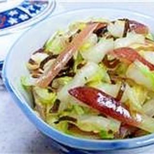 白菜とみょうがの塩昆布浅漬け