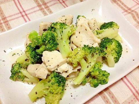 鶏肉とブロッコリーのバジル炒め✿