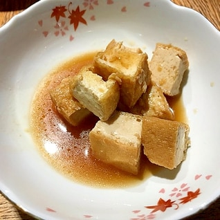無水鍋で簡単★厚揚げの甘辛煮