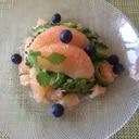 ゴーヤとグレープフルーツサラダ