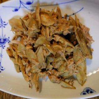 炒めごぼうのツナマヨサラダ