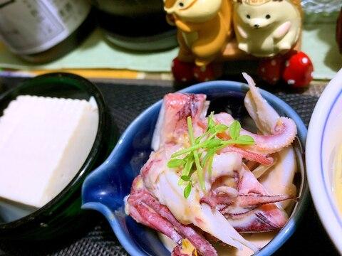 ヤリイカの柚子酢味噌マヨネーズ和え