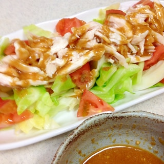 野菜もお肉もパクパク♪棒棒鶏ソース♪