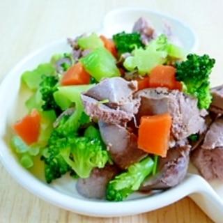 犬用♡茹でレバーと野菜