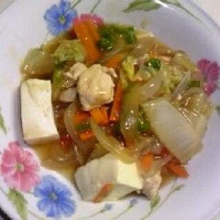 鶏肉と野菜と豆腐のあんかけ風☆