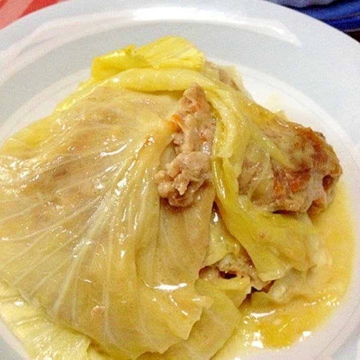 ロールキャベツレシピで☆重ねキャベツwitnレンジ