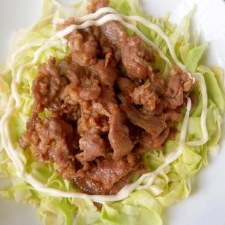 キャベツを敷いて☆ジンギスカン焼き肉