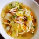 シャキシャキレタスの野菜スープ