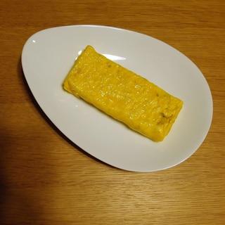 素麺と鰹節の卵焼き