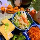 大根皮と鮭フレークのおつまみサラダ
