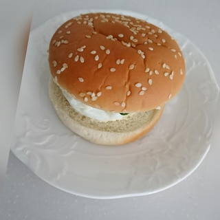 おうちハンバーガー☆サラダチキン