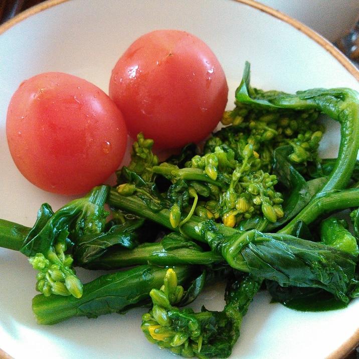 菜の花とミニトマトのさっぱりサラダ