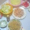 豆腐干糸シーフードミックスオイスターソース焼そば♪