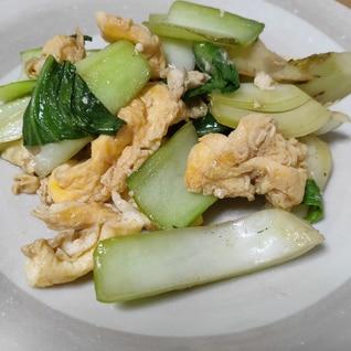 簡単!焼き肉のタレでチンゲン菜の卵炒め