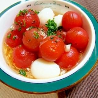 ●紅白で可愛い○ミニトマトとうずら卵のマリネ