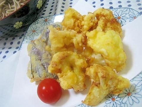新鮮食感♪カリフラワーの天ぷら