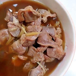 圧力鍋で簡単ふっくら柔らか 砂肝の当座煮