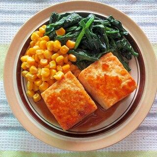 玄米菜食☆豆腐の生姜焼き
