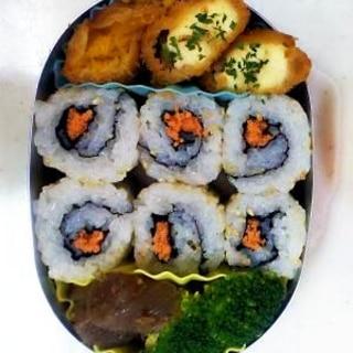 幼稚園弁当<保温>対策③…裏巻き海苔巻き