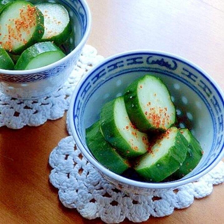昆布→あおさ海苔で❤キュウリの簡単おいしい糠漬け♪