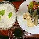 素麺with蒸し料理