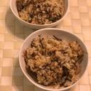 合い挽き肉とひじきの炊き込みご飯