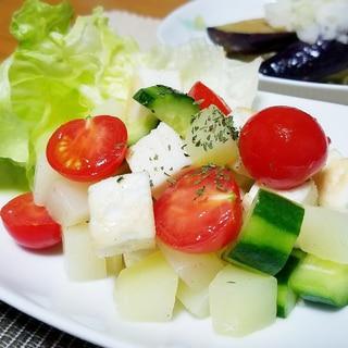 オリーブオイルde☆はんぺんと野菜のコロコロサラダ
