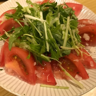 冷やしトマトのサラダ☆初夏のおつまみ