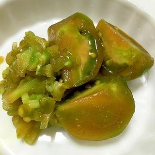 青いトマトで作る青トマトの醤油漬け