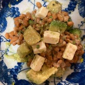 アボカドチーズ納豆。