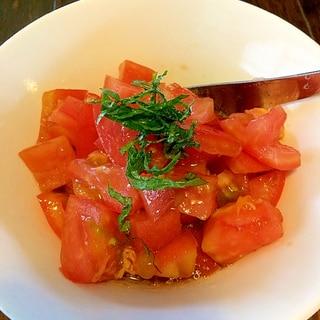 トマトのサラダ☆ワサビドレッシング