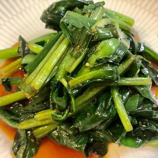 冷たいビールと♫ニラとほうれん草の甘辛野菜炒め