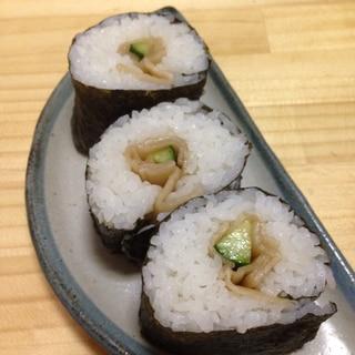かんぴょうときゅうりの巻き寿司♪