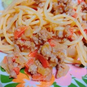 ケチャップで簡単☆ミートスパゲッティ