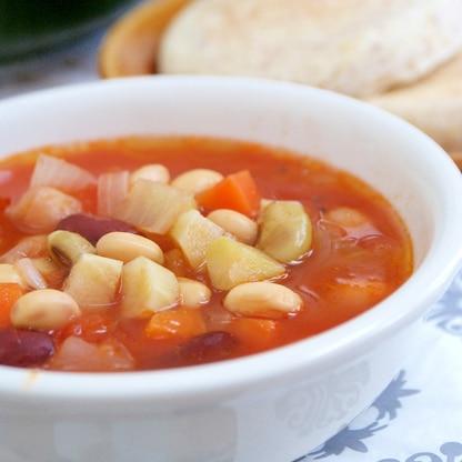*お豆ゴロゴロ♪トマトスープ*