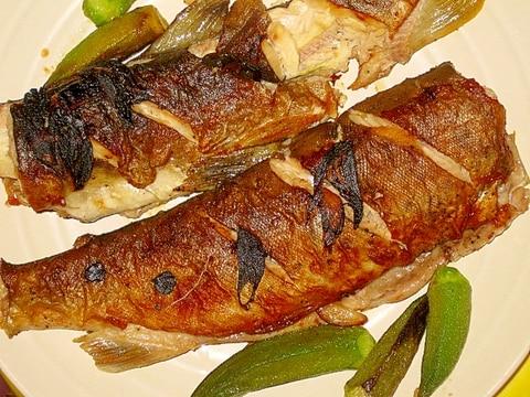 川魚のガーリックムニエル