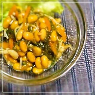 めかぶ納豆のキノコ和え