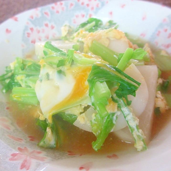 カブの卵とじ