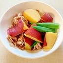 薩摩芋とオクラと豚の煮物
