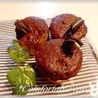 """★""""レンジで簡単!チョコカップケーキ"""